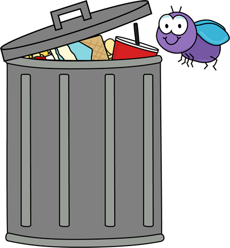 Art Image Purple Fly Flying Around A Tra-Art Image Purple Fly Flying Around A Trash Can Filled With Garbage-1