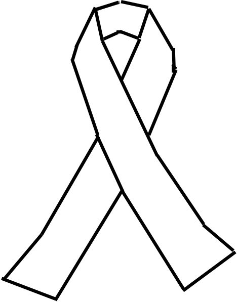 Art Lung Cancer Ribbon Clip A - Lung Cancer Ribbon Clip Art