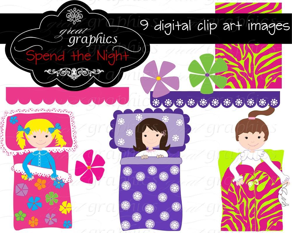 ... Art Sleepover Party Digital Clip. -... Art Sleepover Party Digital Clip. -13