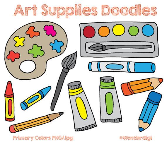 Art Supplies Clip Art Doodles .-Art Supplies Clip art Doodles .-7