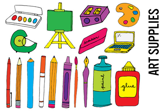Art Supplies Clip Art Hi Res Pngs Illust-Art Supplies Clip Art Hi Res Pngs Illustrations On Creative Market-8