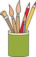 Art Supplies Pencils Paint Brushes. Size-art supplies pencils paint brushes. Size: 52 Kb-10