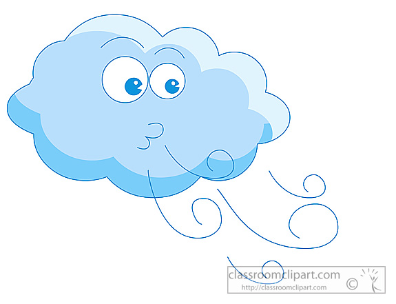 Art Weather Clipart Weather Cloud Blowing Wind 06 Classroom Clipart