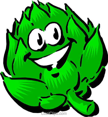 Cartoon artichoke Royalty Fre - Artichokes Clipart