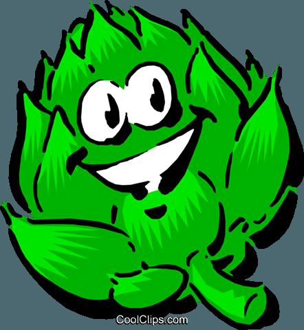 Cartoon artichoke Royalty Free Vector Clip Art illustration