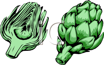 Clipart Picture of a Realistic Looking Artichoke