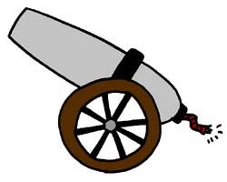 Artillery clipart: a piece of artillery than