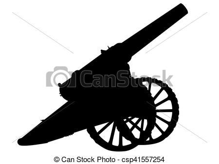 Artillery on white - csp41557254