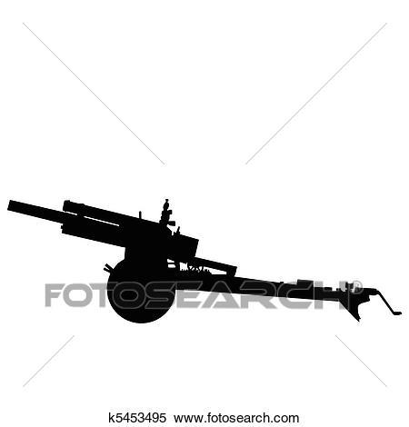 Clipart - WW2 - Field Artillery. Fotosearch - Search Clip Art, Illustration  Murals,