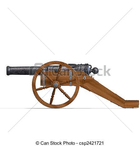field artillery cannon - csp2421721