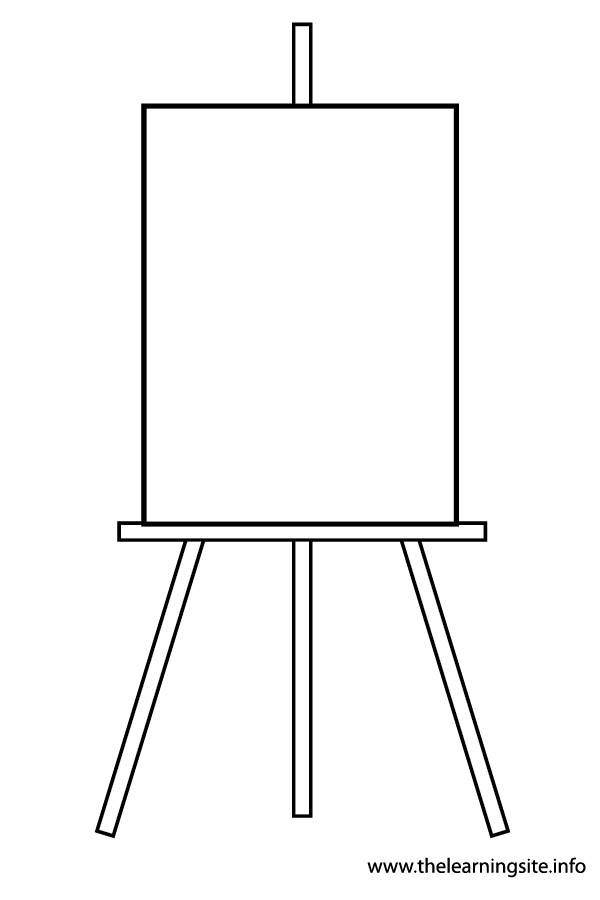 Artist Easel Clip Art. For More Art Mate-Artist Easel Clip Art. For More Art Material .-8