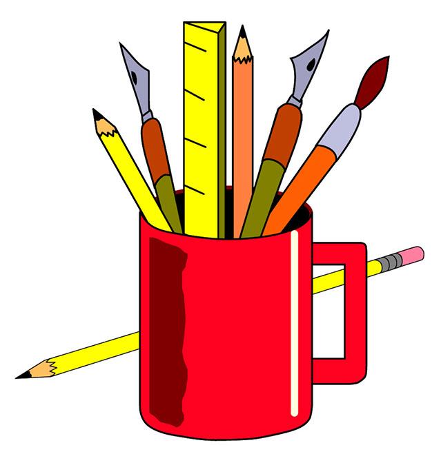 Artist Supplies Clip Art 5 .-Artist supplies clip art 5 .-11