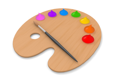 Artists Palette Clipart. Paint Brushes Palette Free .