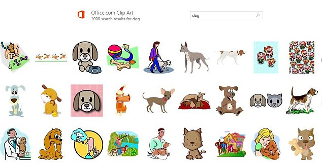 As of this week, Microsoft is retiring its iconic Clip Art tool (pictured)