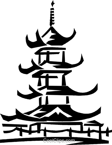 Asian Temple Clip Art