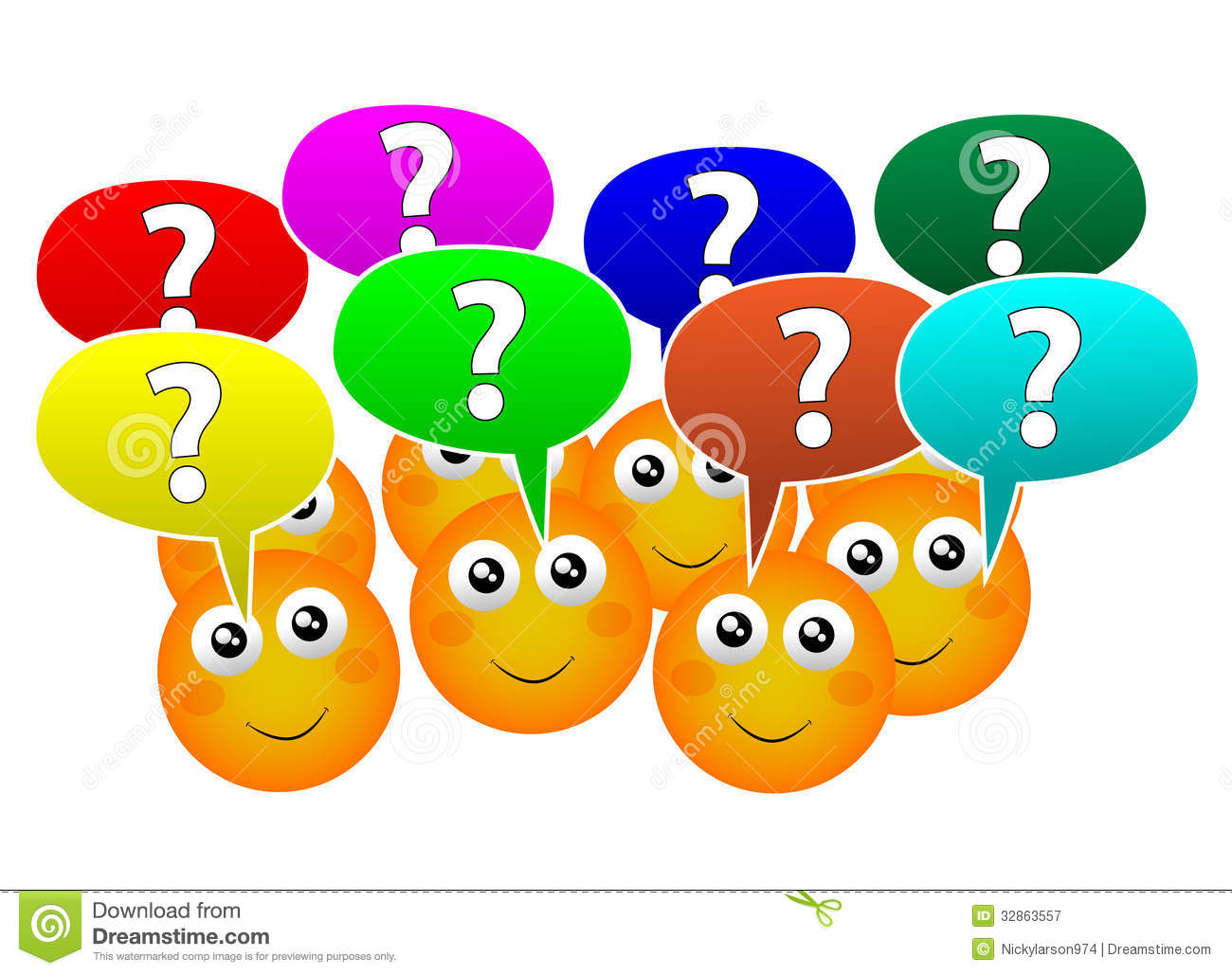 Ask Question Clipart People Asking Questions