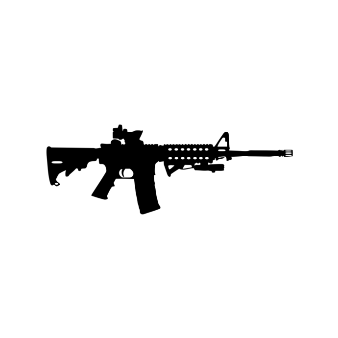 AR-15 Gun Ammo Assault Rifle M16 graphics design SVG DXF PNG Vector Art  Clipart