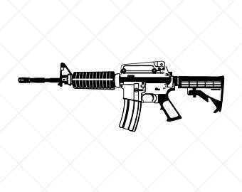Detailed M4 Carbine Rifle-Gun Clipart-Vector ClipartLook.com