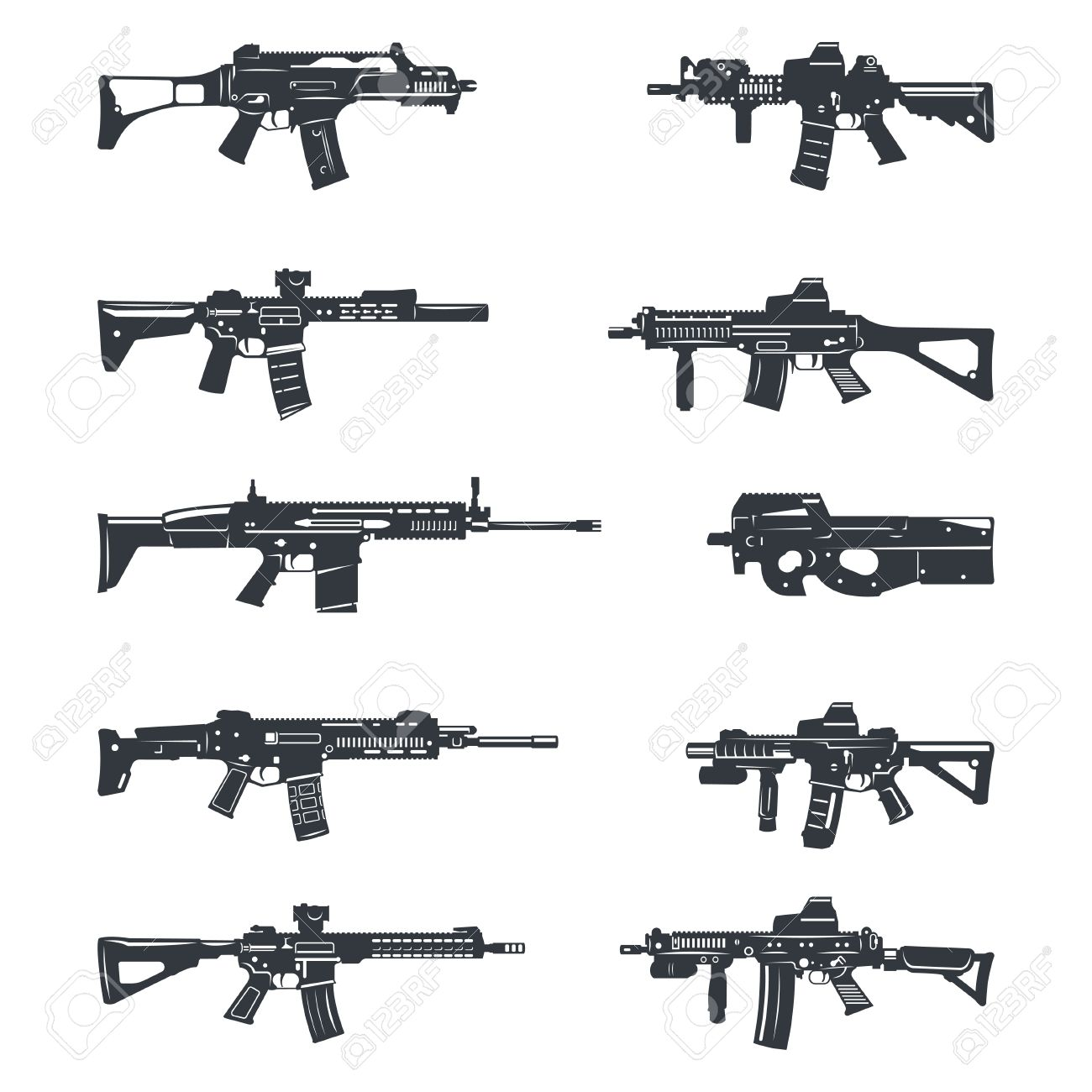 Gun Clipart assault rifle