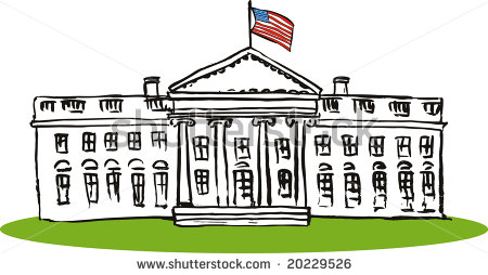 At The White House Clipart .-At The White House Clipart .-2