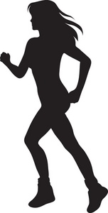 Athlete Clipart Image Silhouette Of A Young Woman Or Female Athlete