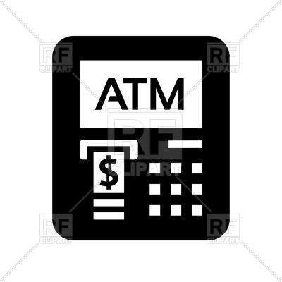 ATM black icon, 169291, download royalty-free vector vector image ClipartLook.com