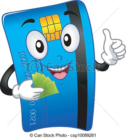ATM Card Mascot - csp10089261