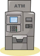 Bank ATM Machine with Money S - Atm Clipart
