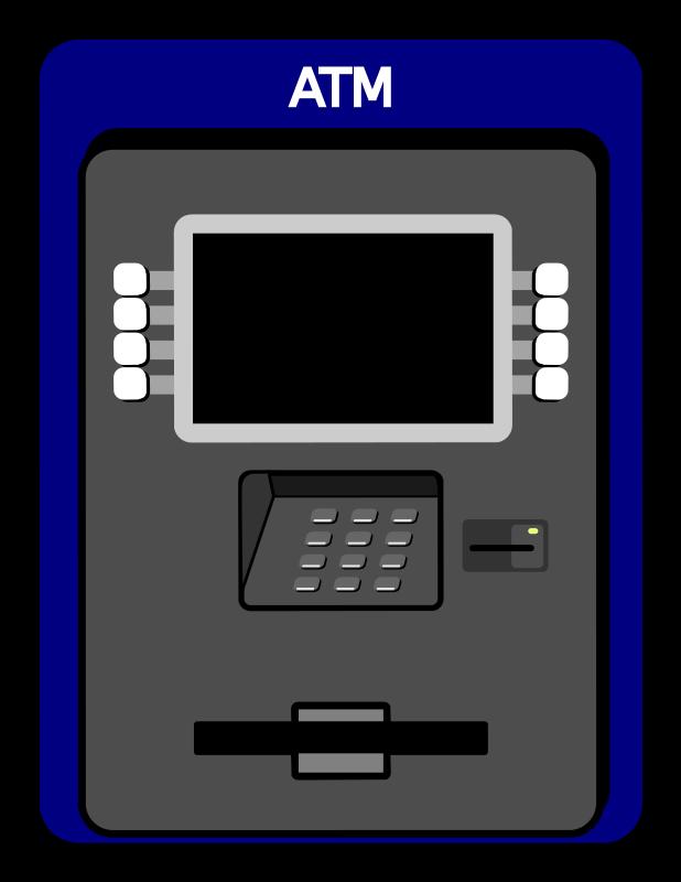 Free Simple Atm Machine Clip  - Atm Clipart