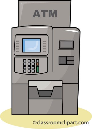 Bank ATM Machine with Money S