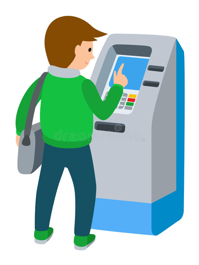 . ClipartLook.com Vibrant Ideas Atm Clipart Man Using ATM Machine Vector Illustration Of  People White ClipartLook.com