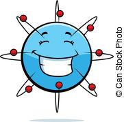 ... Atom Smiling - A Cartoon Blue Atom H-... Atom Smiling - A cartoon blue atom happy and smiling.-13