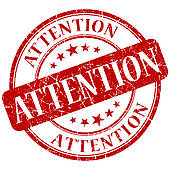 Attention Clip Art
