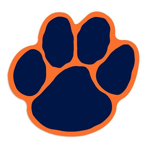 Auburn Tiger Paw Clipart #1