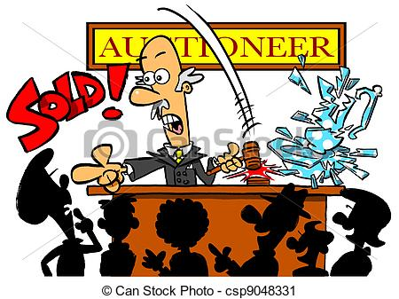 Auctioneer.wbg Stock Illustration