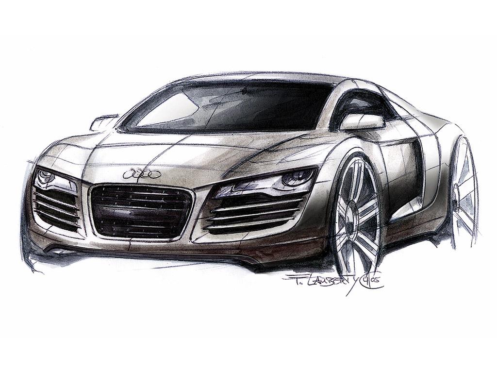 Audi R8 Design Sketch-Audi R8 Design Sketch-9