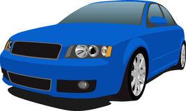 Audi S4 Blue - Audi Clipart