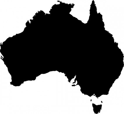 Australia Map Clipart-Australia Map Clipart-7