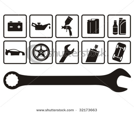 Auto Mechanic Logo Clipart #1