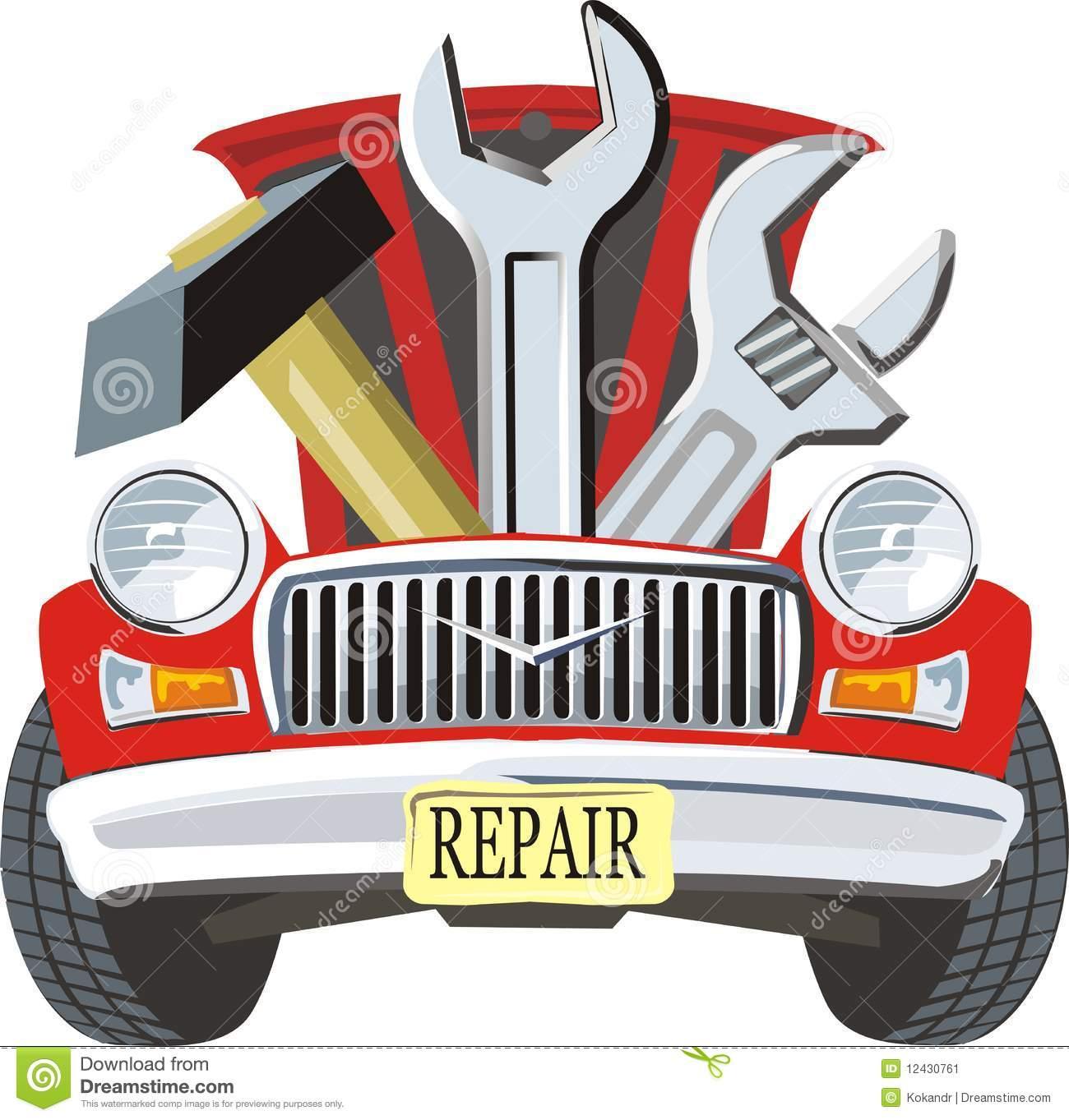 Auto Mechanic Shop Clipart .