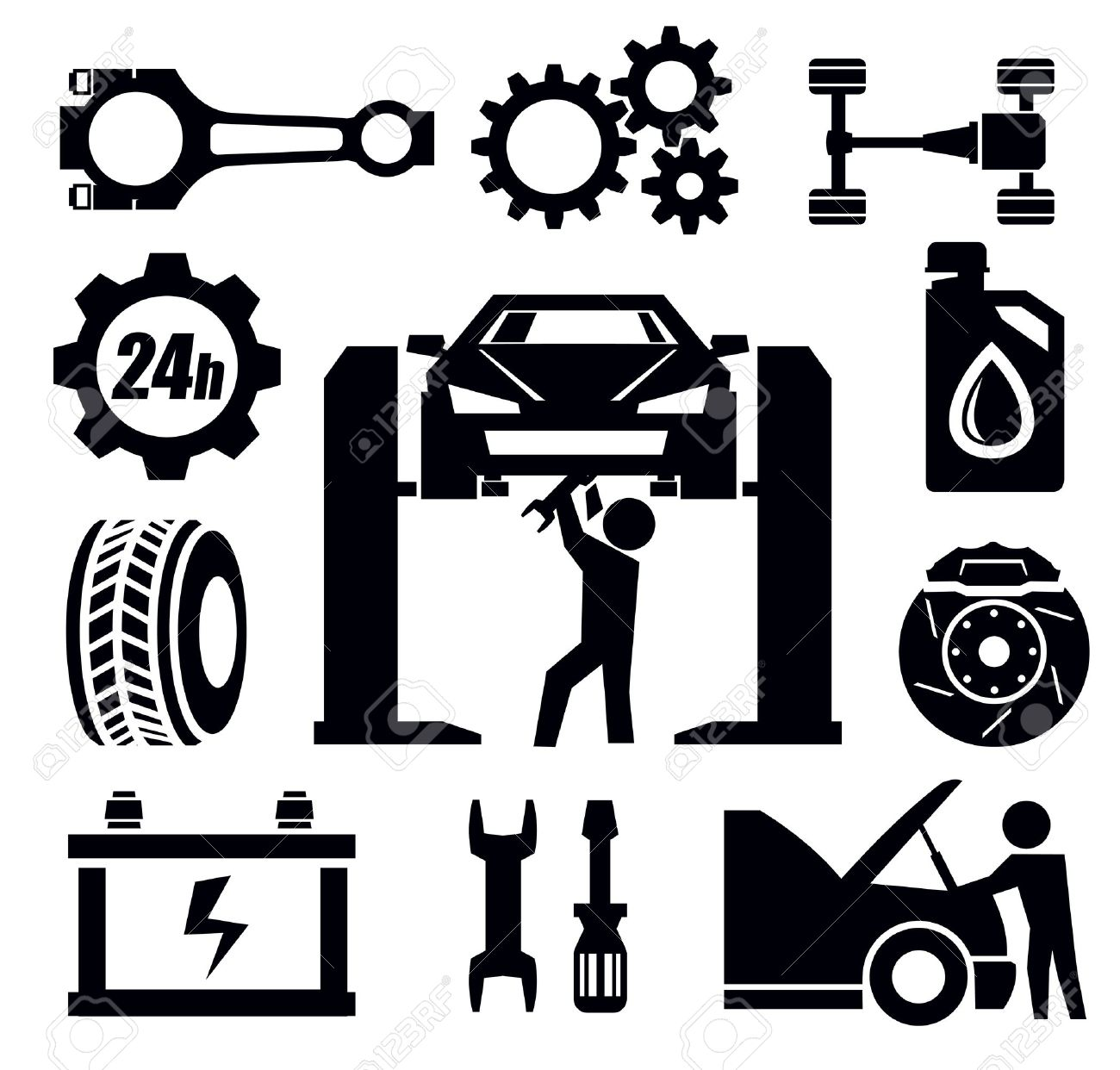 Auto Repair: Car Repair Icon-auto repair: car repair icon-4
