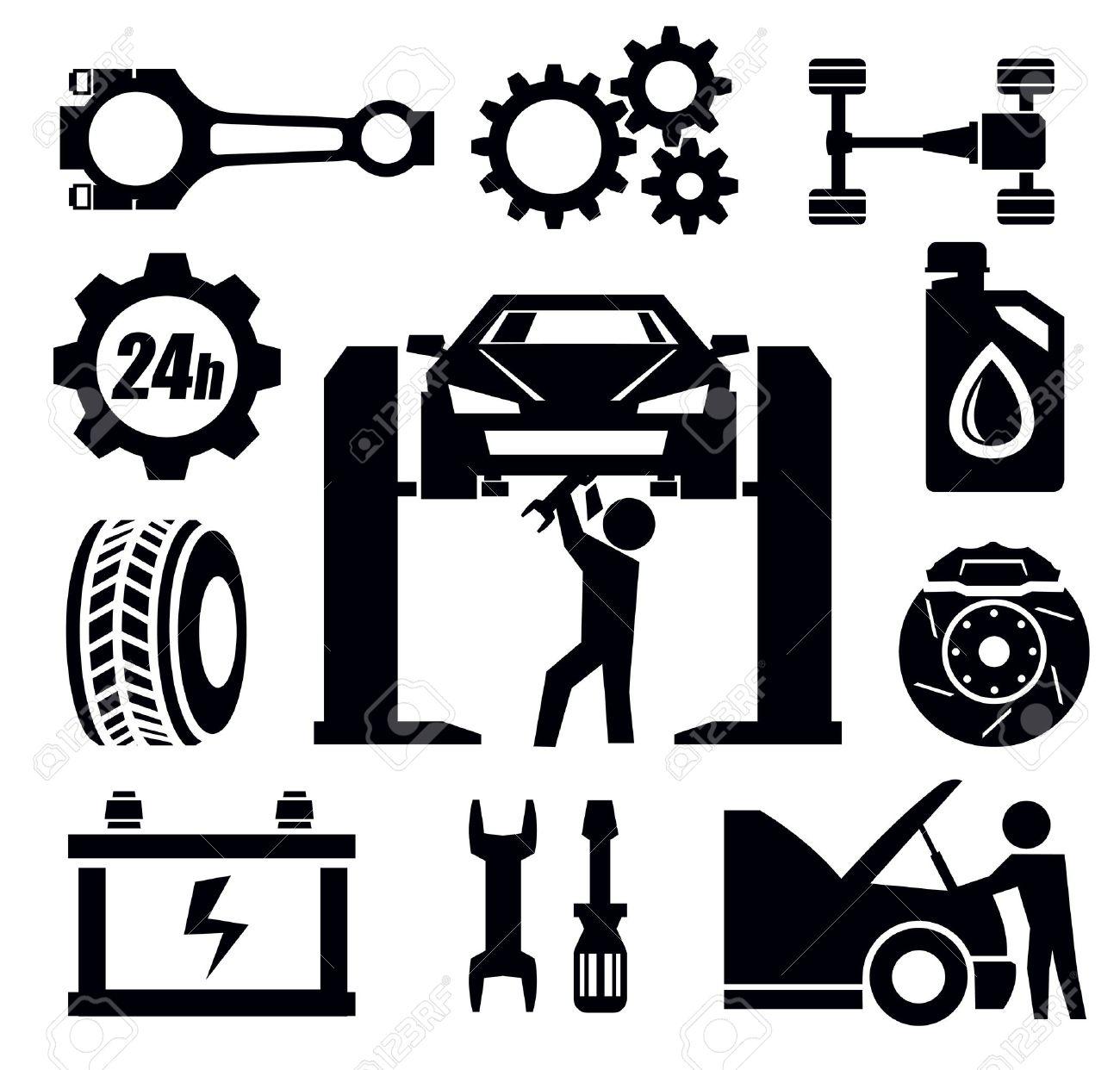 auto repair: car repair icon