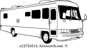automobile, bus, camper, motorhome, recreation, recreational, rv, vehicle,. ValueClips Clip Art