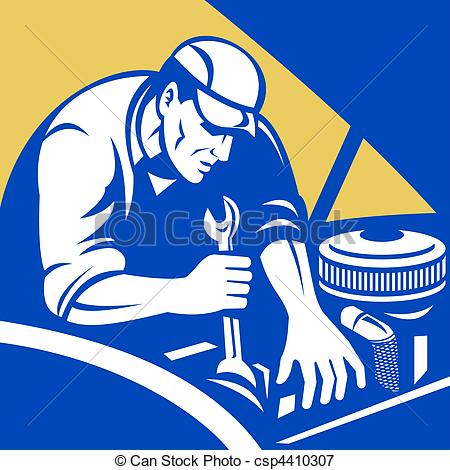 ... Automobile car repair mechanic - illustration of a.
