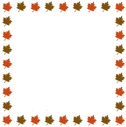 Autumn Clip Art - Thanksgiving Border Clipart