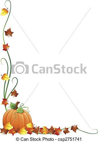 ... Autumn Border - Illustration Of Fall-... Autumn border - Illustration of fall leaves and a pumpkin as... Autumn border Clipartby ...-2
