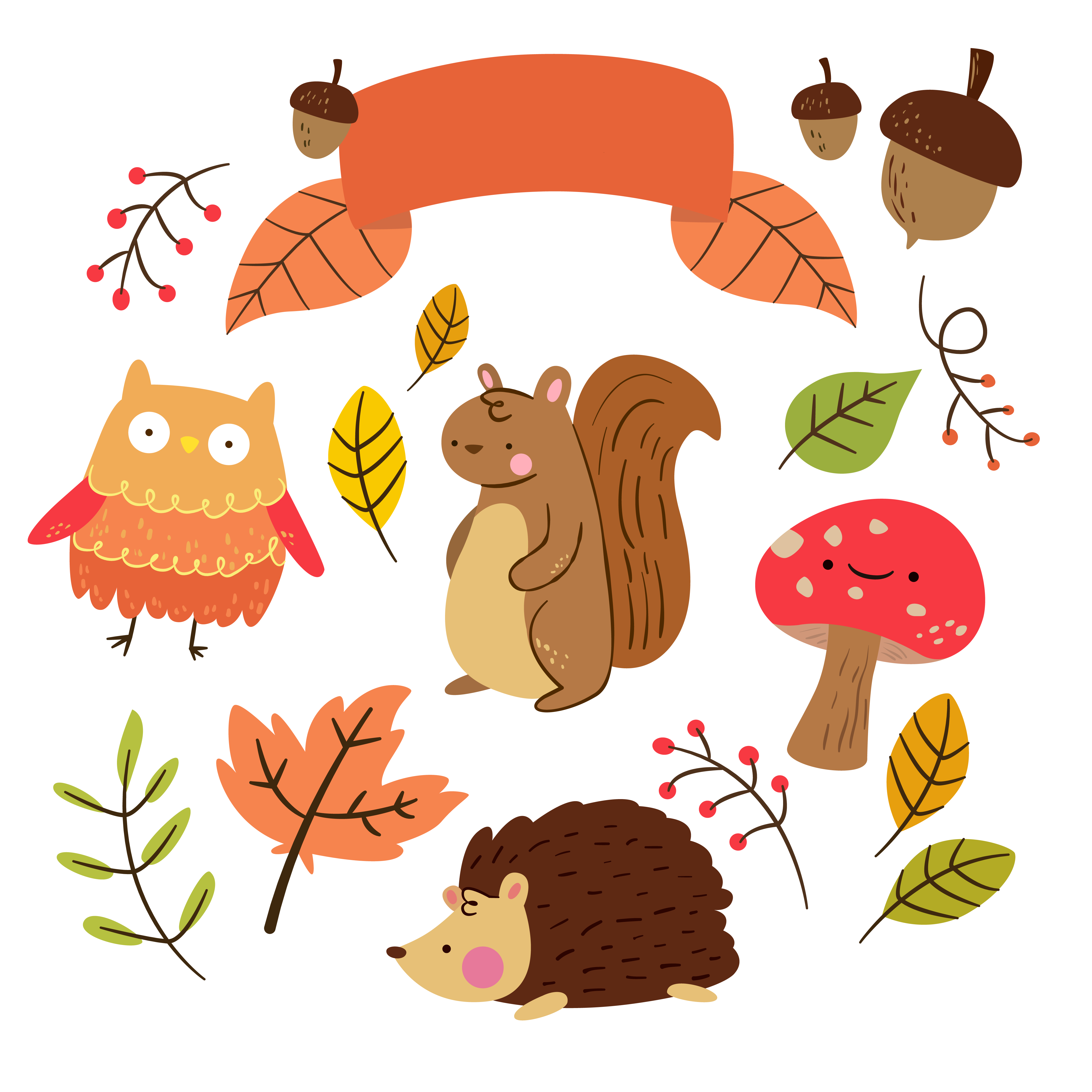 Free Critter Autumn Planner Stickers And-Free Critter Autumn Planner Stickers and Clip Art!-12