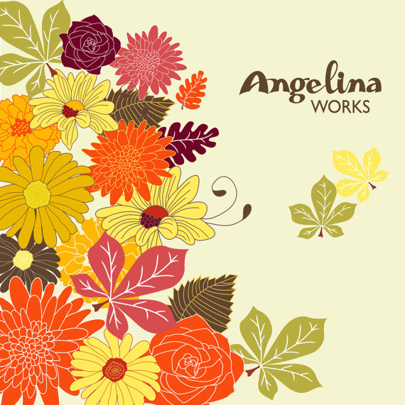 Autumn Flowers Clip art .