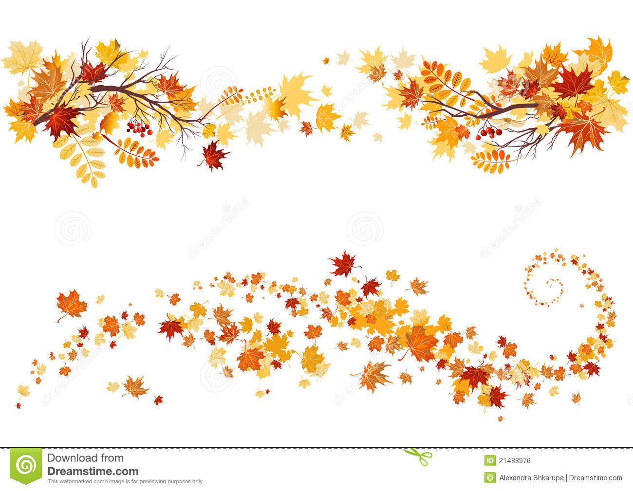 72+ Autumn Leaves Bord... Fall Leaves Border Clip Art | ClipartLook
