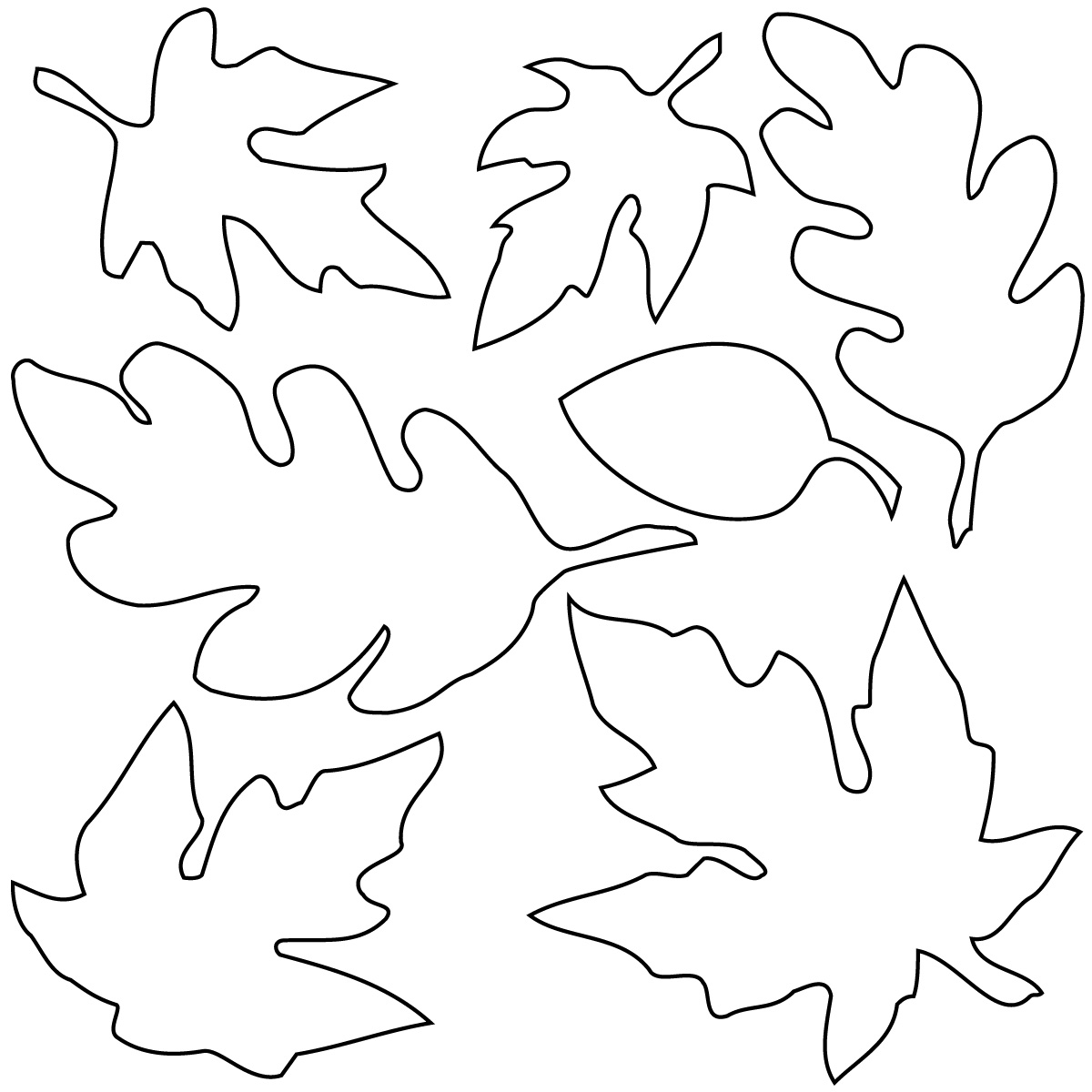 Fall Leaves Clip Art Black And White